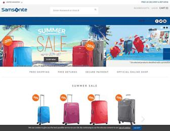 Thumbshot of Samsonite.co.uk