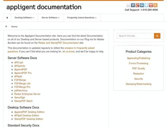 docs.appligent.com screenshot