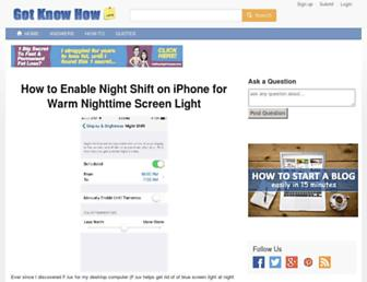 gotknowhow.com screenshot