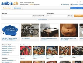 Main page screenshot of anibis.ch