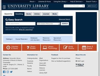 Main page screenshot of library.uiuc.edu