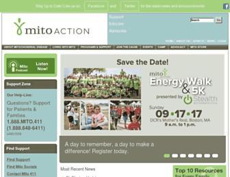 Main page screenshot of mito.convio.net