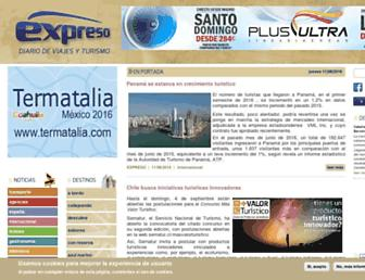 Main page screenshot of expreso.info