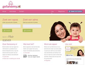 Main page screenshot of getananny.nl