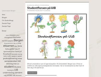 Main page screenshot of studentblogg.uib.no