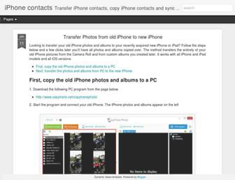 iphone-contacts.blogspot.com screenshot