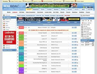 nowgoal.com screenshot