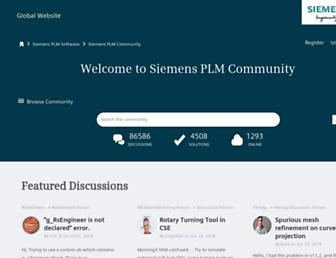 community.plm.automation.siemens.com screenshot