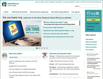 ird.govt.nz screenshot