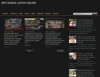 mp3songslistenonline.blogspot.com screenshot