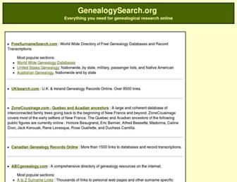 genealogysearch.org screenshot