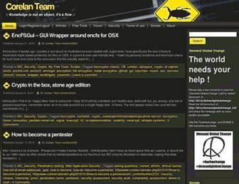 Main page screenshot of corelan.be