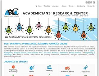 arcjournals.org screenshot