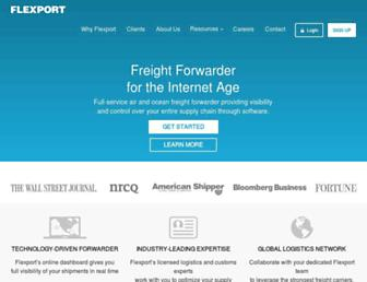 flexport.com screenshot