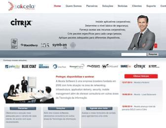 akcela.com.br screenshot