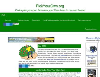 Thumbshot of Pickyourown.org