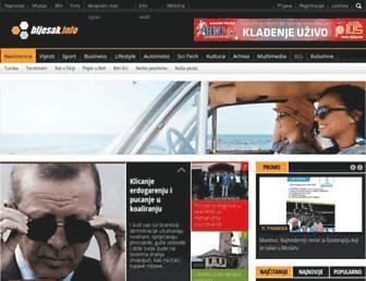 Main page screenshot of bljesak.ba