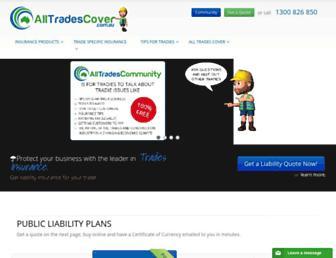 alltradescover.com.au screenshot