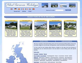 Thumbshot of Idealcaravanholidays.co.uk
