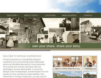 vintagecooperatives.com screenshot