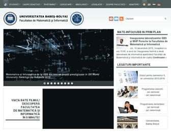cs.ubbcluj.ro screenshot