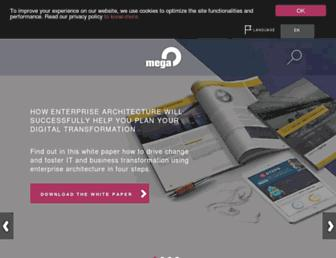 Main page screenshot of mega.fr