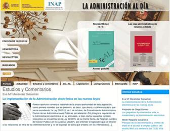 laadministracionaldia.inap.es screenshot