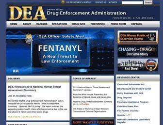 dea.gov screenshot