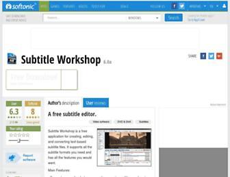 subtitle-workshop.en.softonic.com screenshot