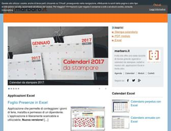 Main page screenshot of marbaro.it