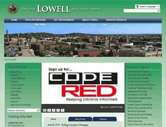 lowellma.gov screenshot