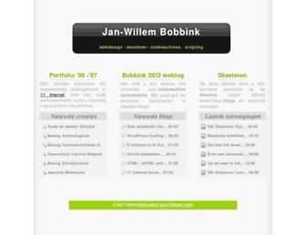 Main page screenshot of jwbobbink.nl