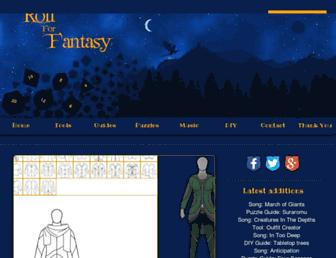 rollforfantasy.com screenshot