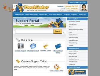 support.hostgator.com screenshot