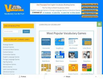 Main page screenshot of vocabulary.co.il
