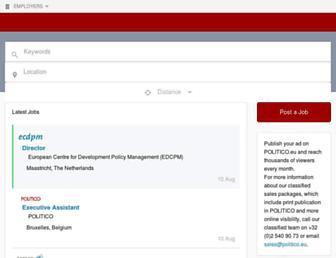 jobs.politico.eu screenshot