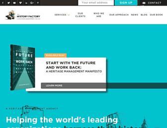 historyfactory.com screenshot