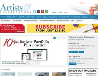 artistsandillustrators.co.uk screenshot