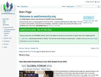 sascommunity.org screenshot
