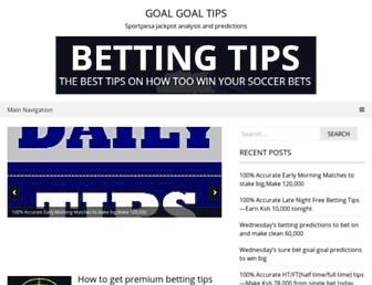goalgoaltips.com screenshot