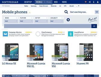 mobile.softpedia.com screenshot
