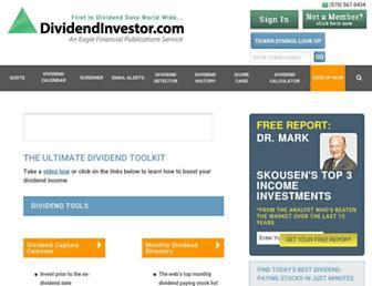 dividendinvestor.com screenshot