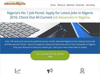 jobcenternigeria.com screenshot