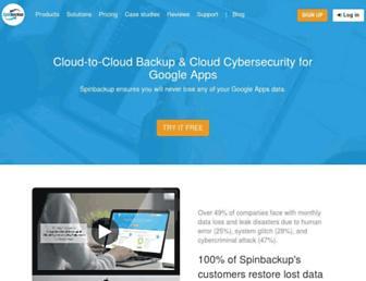 spinbackup.com screenshot