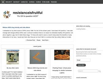 Thumbshot of Resistanceisfruitful.com