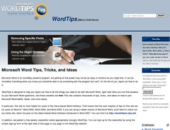 word.tips.net screenshot