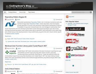 coding4ever.wordpress.com screenshot