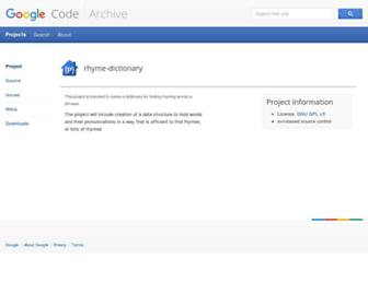 rhyme-dictionary.googlecode.com screenshot