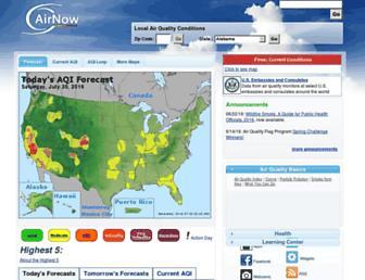 airnow.gov screenshot