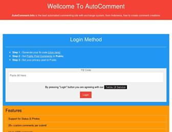 autocomment.info screenshot